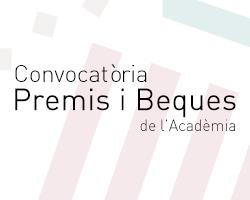 Convocatòria Premis i Beques de l'Acadèmia 2019-2020