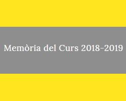 Memòria curs 2018-2019